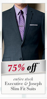 75% OFF* - Executive & Joseph Slim Fit Suits