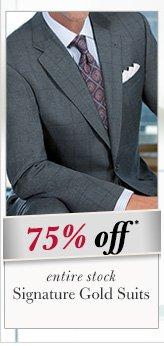 75% OFF* - Signature Gold Suits