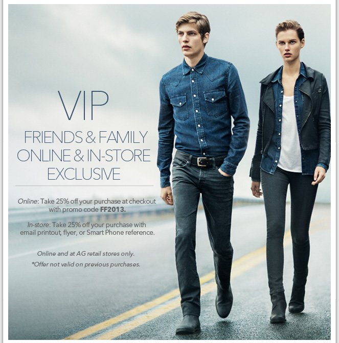 AG's Friends & Family VIP Exclusive: Shop & Save Before Anyone Else