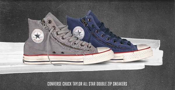 CONVERSE CHUCK TAYLOR ALL STAR DOUBLE ZIP SNEAKERS