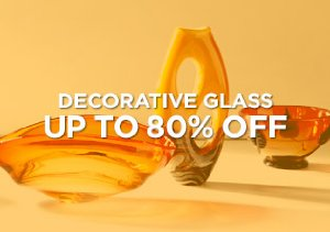 Up to 80% Off: Decorative Glass