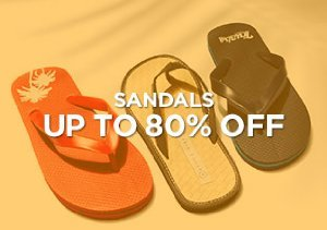 Up to 80% Off: Sandals