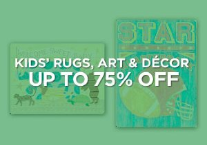 Up to 75% Off: Kids' Rugs, Art & Décor