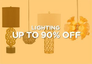 Up to 90% Off: Lighting