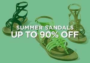 Up to 90% Off: Summer Sandals