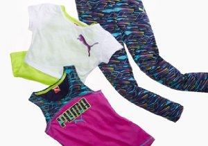 $17 & Under: Girls' Fila & Puma