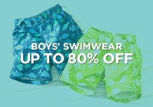 Up to 80% Off: Boys' Swimwear