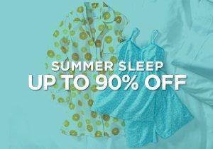 Up to 90% Off: Summer Sleepwear