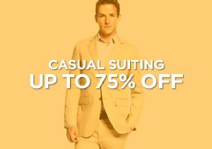 Up to 75% Off: Casual Suiting