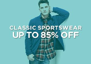 Up to 85% Off: Classic Sportswear