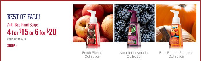 Anti–Bac Hand Soaps – 4 for $15