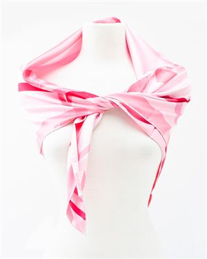 Valentino Bow Print Silk Scarf- Made in Italy
