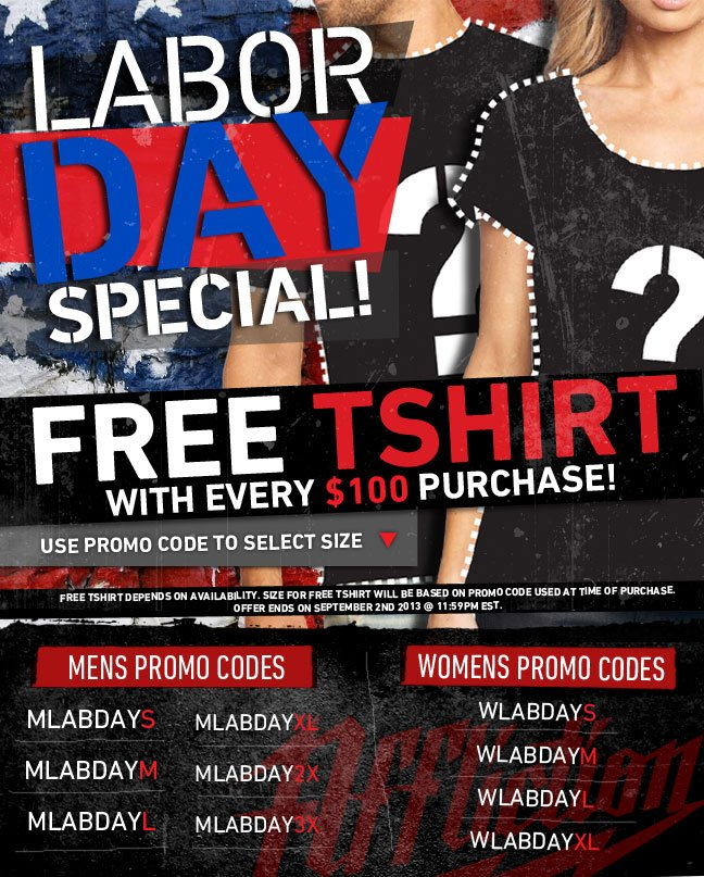 Labor Day Special – Free Shirt!