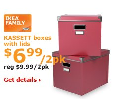 KASSETT boxes with lids $6.99/2pk