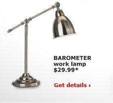 BAROMETER work lamp $29.99*
