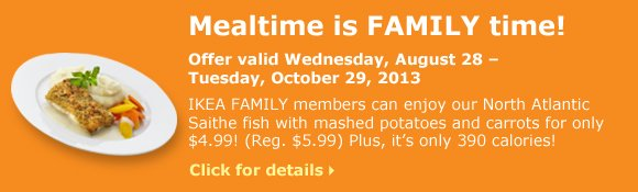 Mealtime is FAMILY time!
