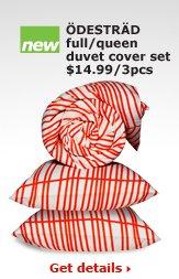 ÖDESTRÄD full/queen duvet cover set $14.99/3pcs