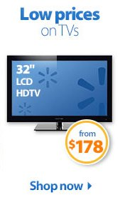 Low prices on TVs