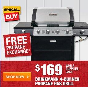 $169 Brinkmann 4-Burner Gas Grill