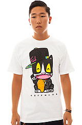 The Neffmau5 Meow Meow Tee in White