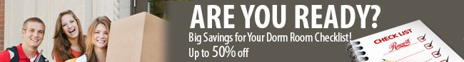 Rosewill - ARE YOU READY? Big Savings for Your Dorm Room Checklist! Up to 50% off.