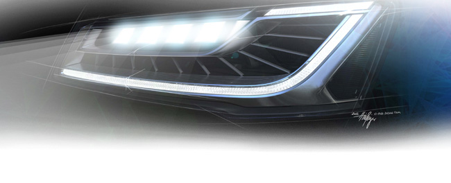 Learn more about Audi Matrix LED headlights