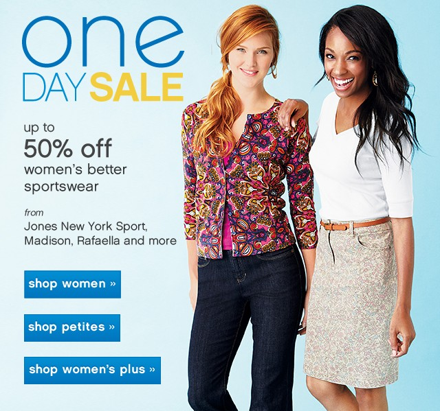 Pretty and Professional. Up to 50% off women's better sportswear.