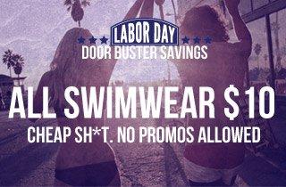 $10 All Swimwear