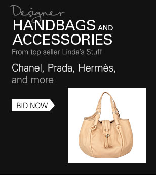 Designer Handbags and Accessories from top seller Linda's Stuff: Chanel, Prada, Hermes, and more Bid Now