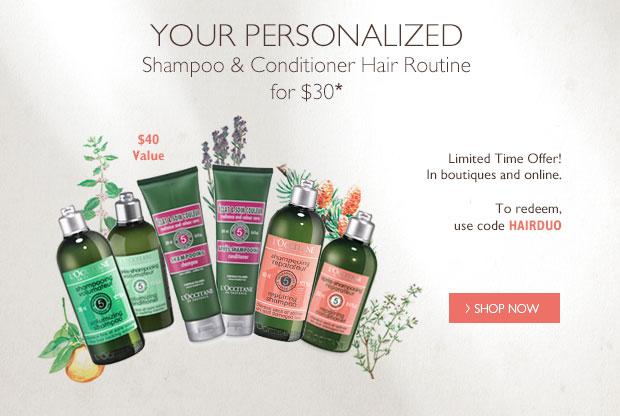 Your Personalized Shampoo & Conditioner Hair Routine for $30*