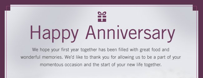 Happy Anniversary from Sur La Table