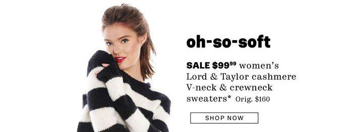 $99.99 cashmere V-neck & Crewneck sweaters for women*