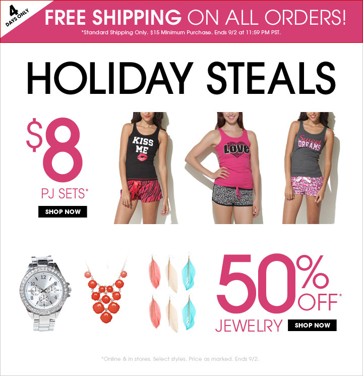 Holiday Steals