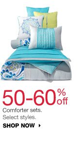50-60% off Comforter sets. Select styles. Shop now.