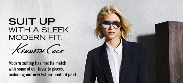 Modern suiting has met its match with some of our favorite pieces, including our new Esther bootcut pant.