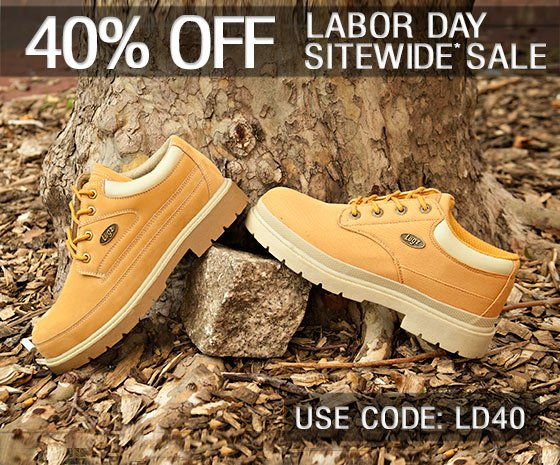 Labor Day Savings Get 40% Off Sitewide