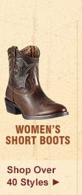 All Womens Short Boots on Sale