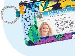 Zip ID Case in Midnight Blues