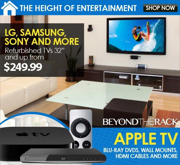 "Samsung, Sony 32"" TV + Apple TV"