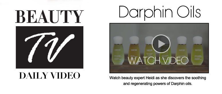 Darphin Oils Watch beauty expert Heidi as she discovers the soothing and regenerating powers of Darphin oils. Watch Video>>