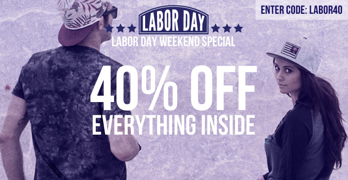 An Extra 40% Off Everything in Side - Click to Buy. Happy Labor Day Weekend!
