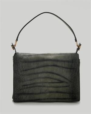 YSL LUWB Croc Embossed Genuine Leather Handbag, 8/10 Condition