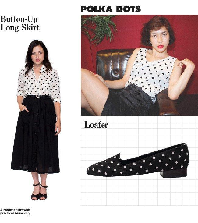 Button Up Long Skirt