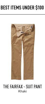 Khaki Suit Pants