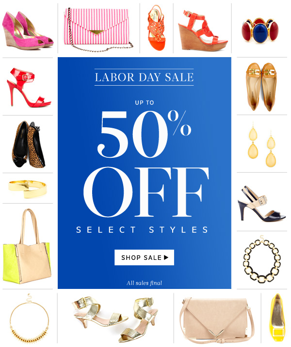 Labor Day SALE! Up to 50% off select styles