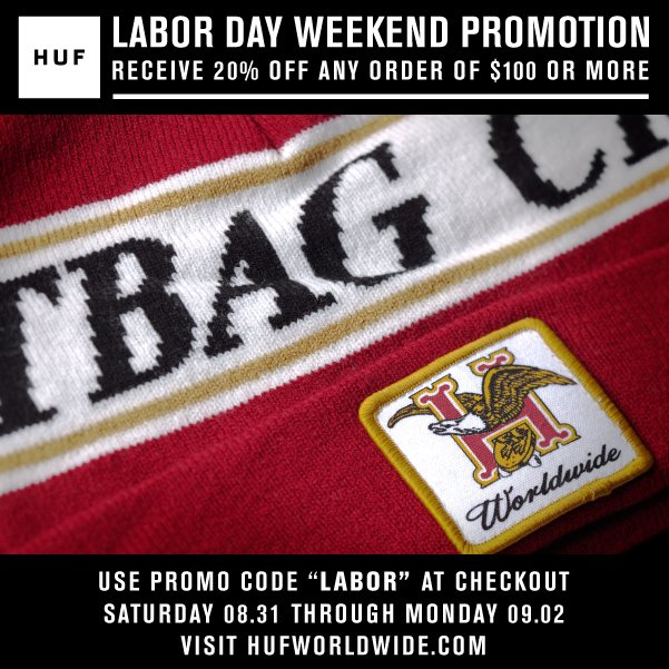 LABOR DAY WEEKEND PROMOTION