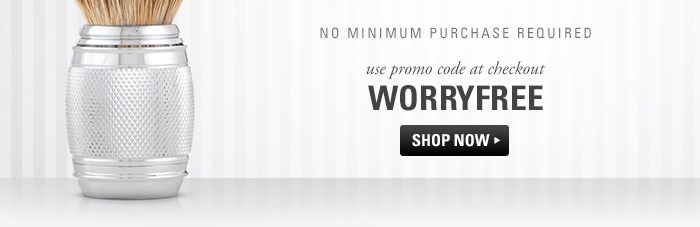 Use Code WORRYFREE at checkout. Click here to shop now.