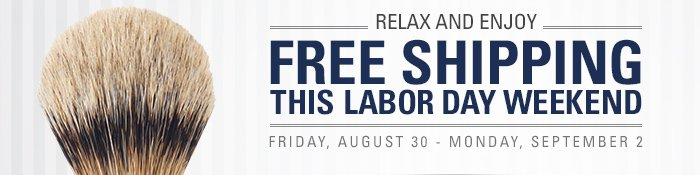 Relax and Enjoy Free Shipping this Labor Day Weekend