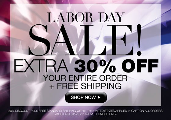 Labor Day Sale! Extra 30% Off Your Entire Order Plus Free Shipping