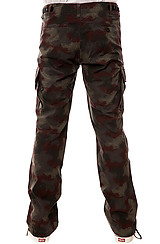 The Delancy Cargo Pants in Black Spray Camo